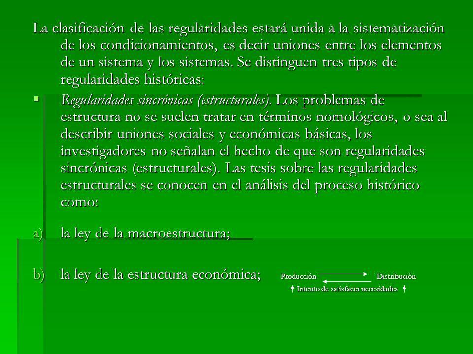 la ley de la macroestructura;