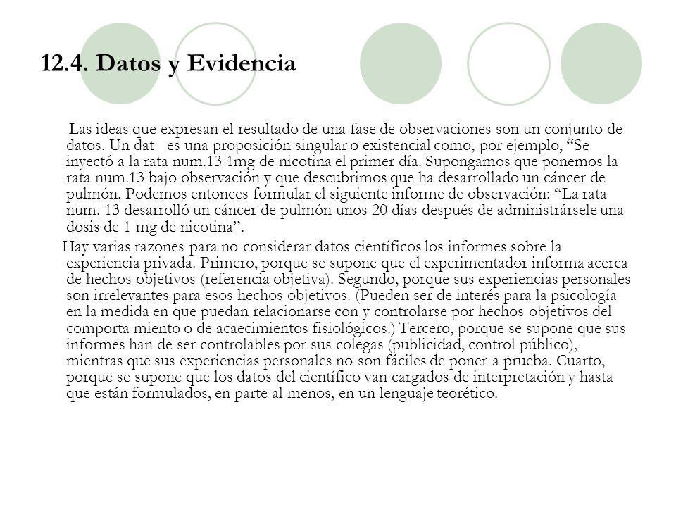 12.4. Datos y Evidencia