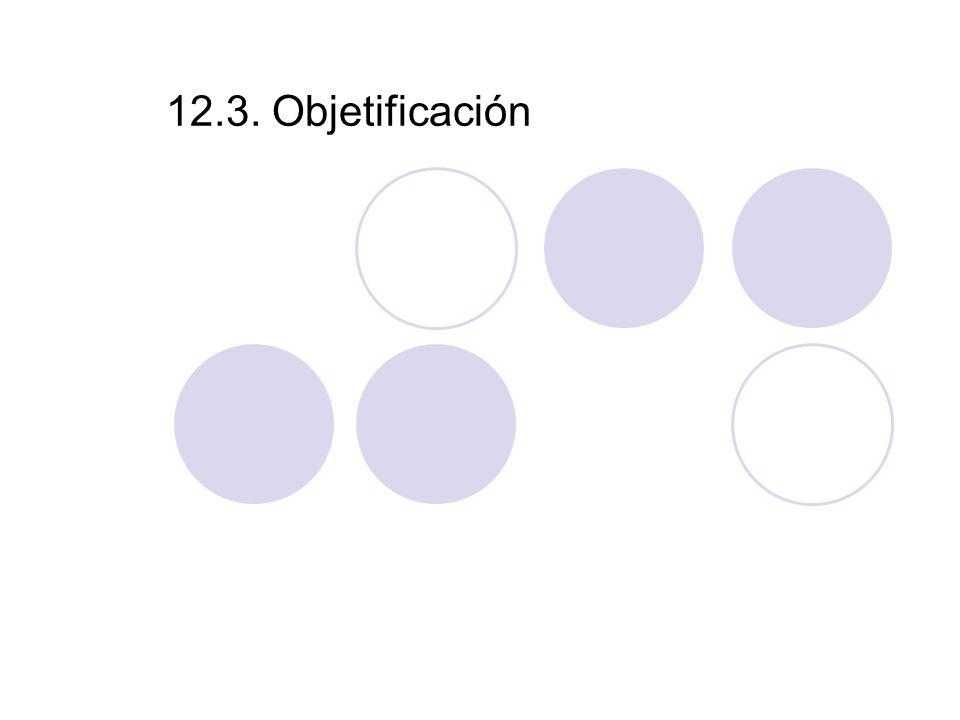 12.3. Objetificación