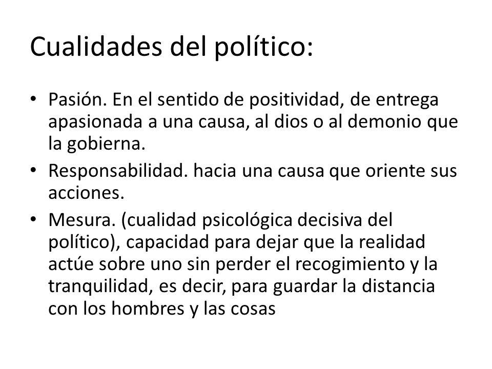 Cualidades del político: