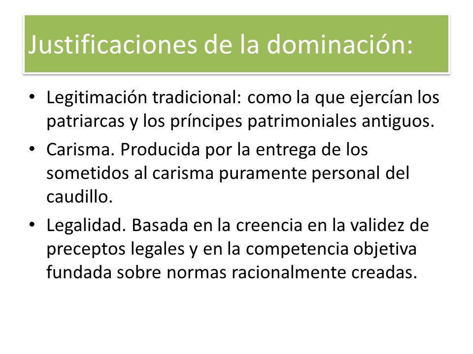 Justificaciones de la dominación: