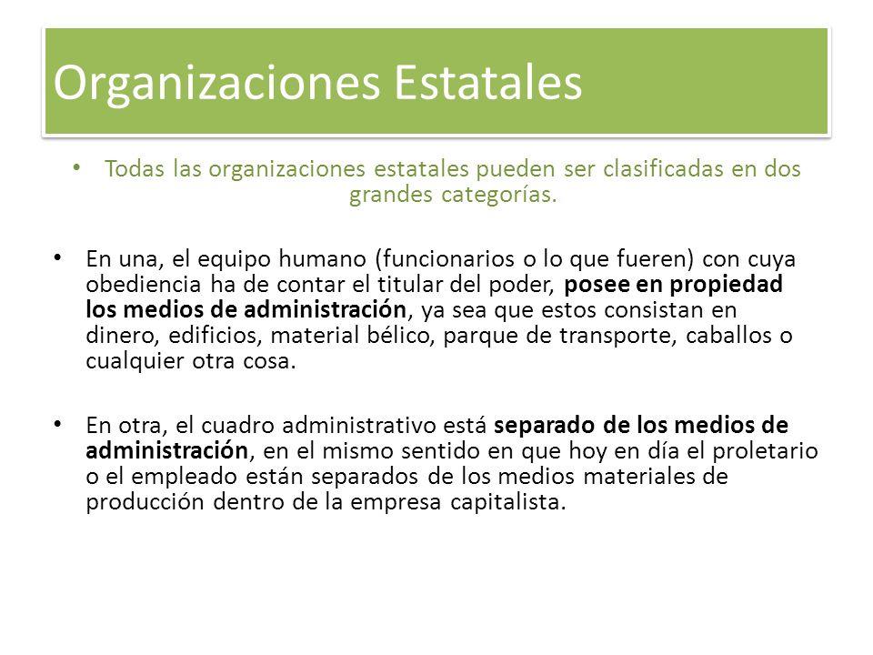 Organizaciones Estatales