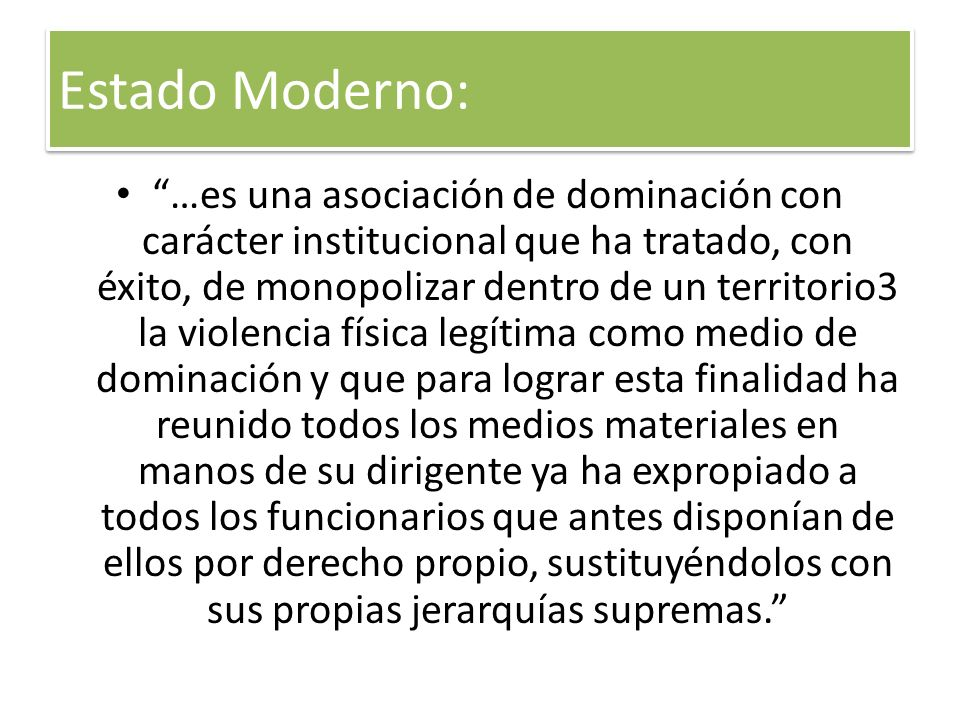 Estado Moderno: