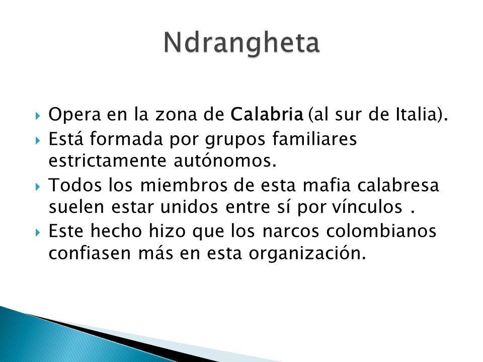 Ndrangheta Opera en la zona de Calabria (al sur de Italia).