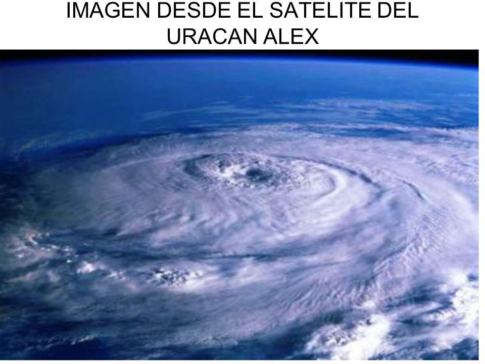 IMAGEN DESDE EL SATELITE DEL URACAN ALEX