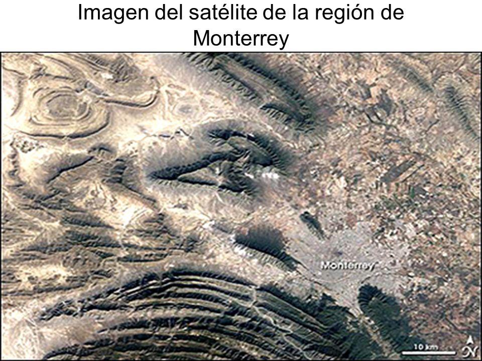 Imagen del satélite de la región de Monterrey