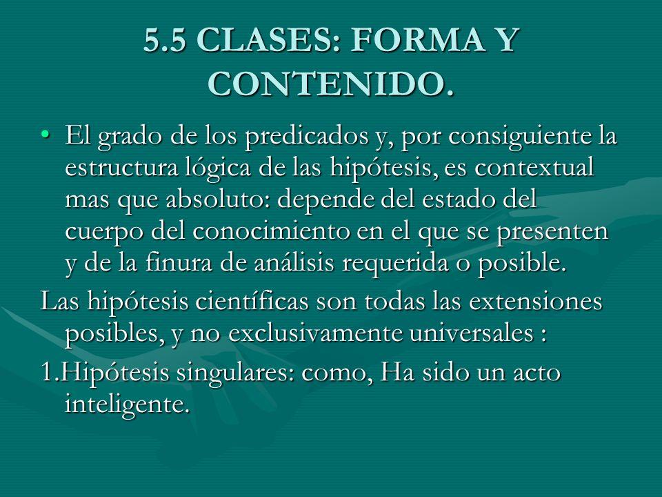 5.5 CLASES: FORMA Y CONTENIDO.