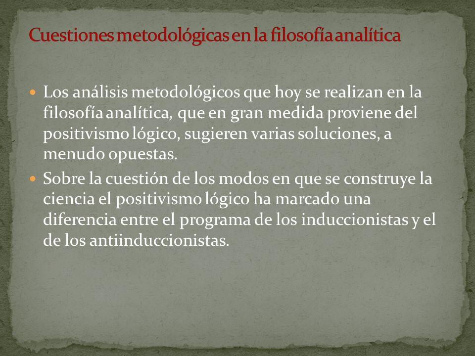 Cuestiones metodológicas en la filosofía analítica