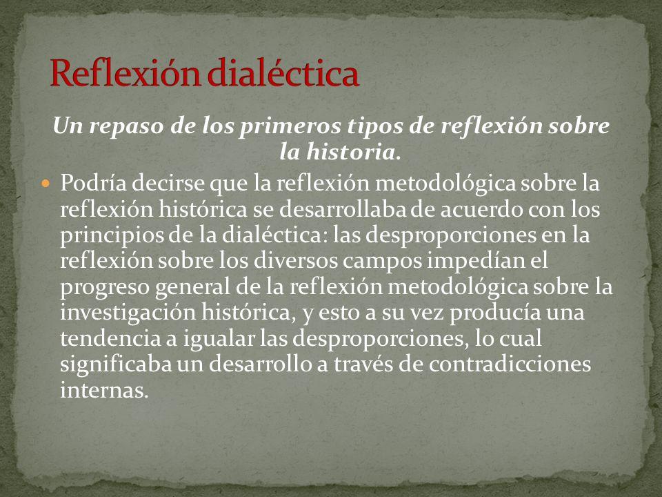Un repaso de los primeros tipos de reflexión sobre la historia.
