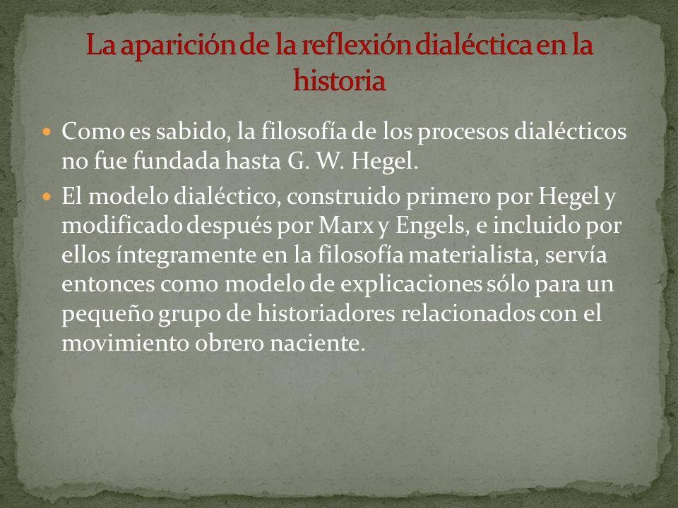 La aparición de la reflexión dialéctica en la historia