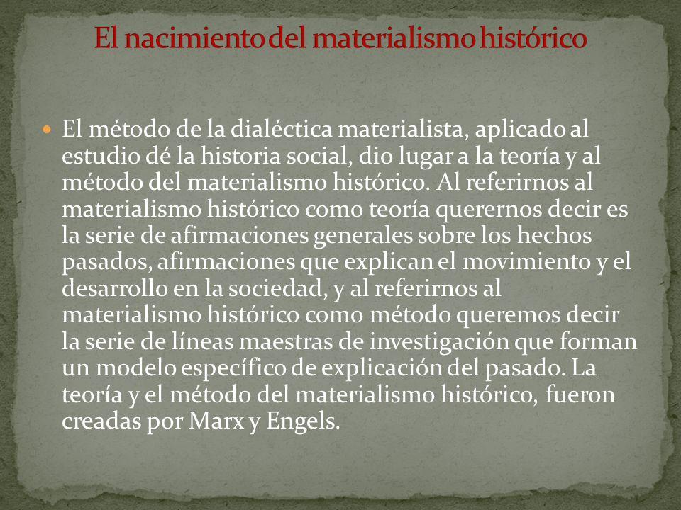 El nacimiento del materialismo histórico