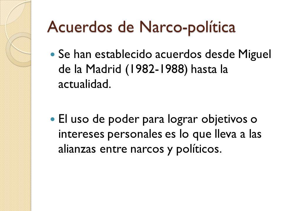 Acuerdos de Narco-política