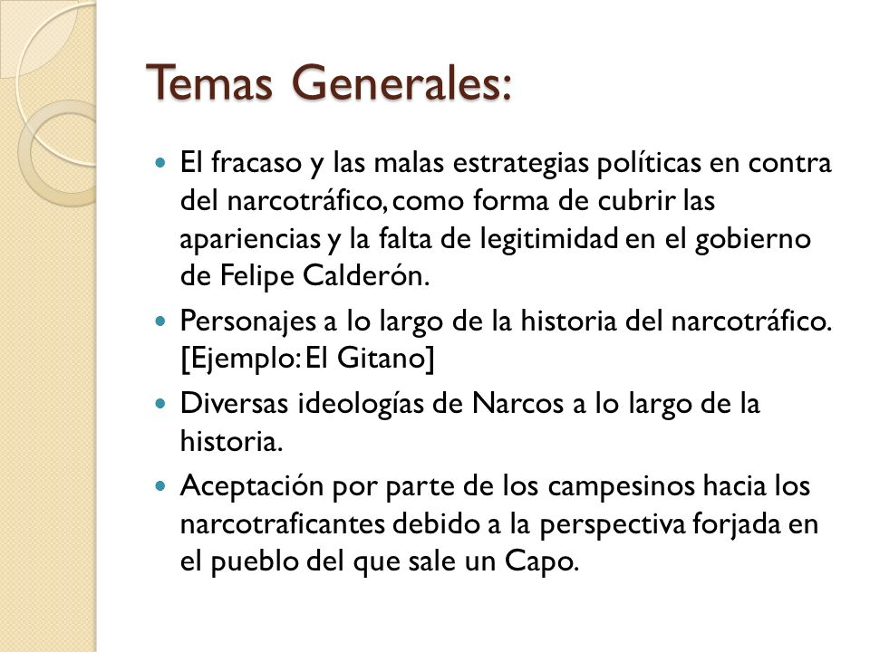 Temas Generales:
