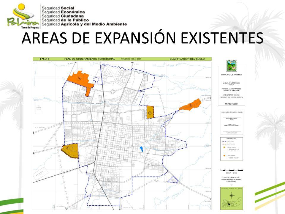 AREAS DE EXPANSIÓN EXISTENTES
