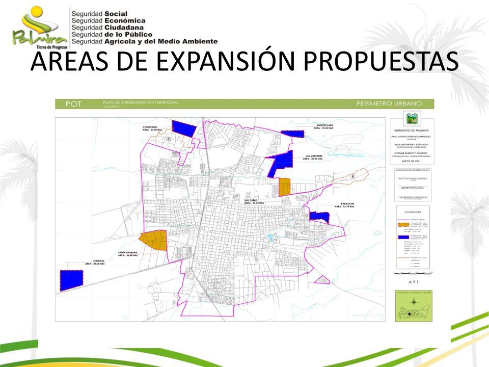AREAS DE EXPANSIÓN PROPUESTAS