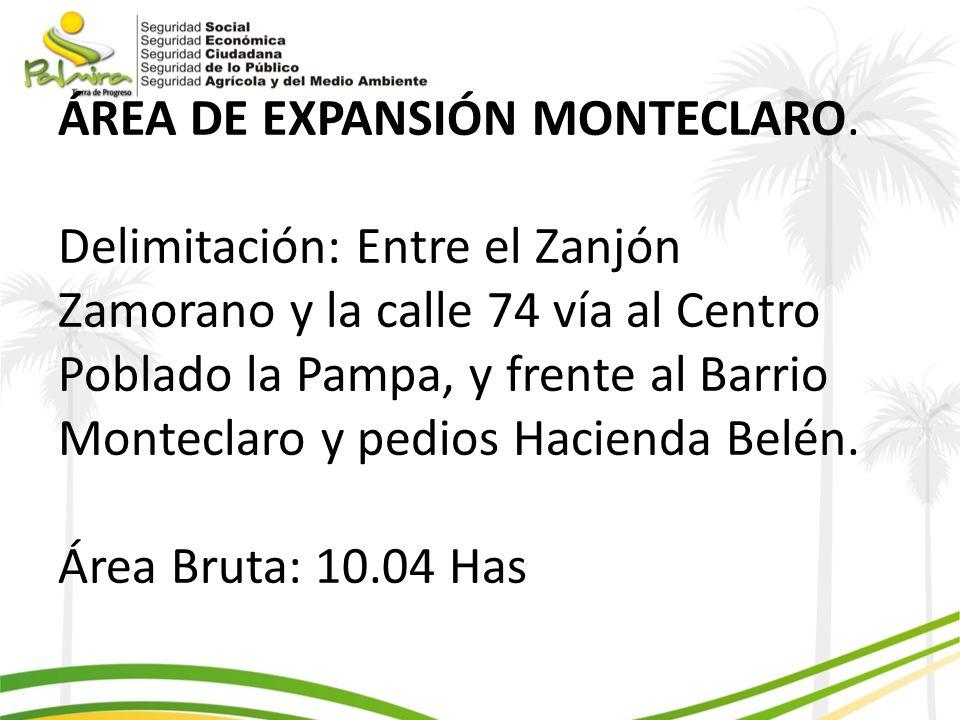 ÁREA DE EXPANSIÓN MONTECLARO