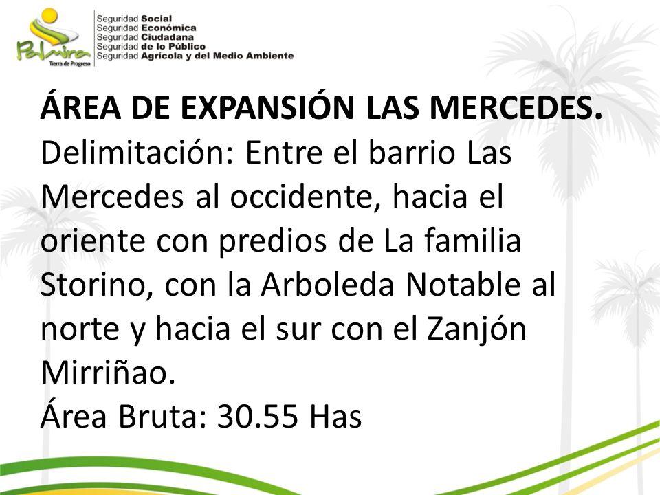 ÁREA DE EXPANSIÓN LAS MERCEDES