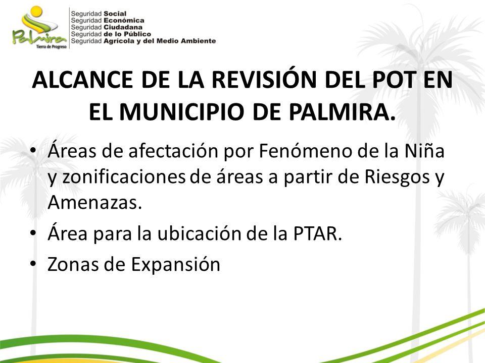 ALCANCE DE LA REVISIÓN DEL POT EN EL MUNICIPIO DE PALMIRA.