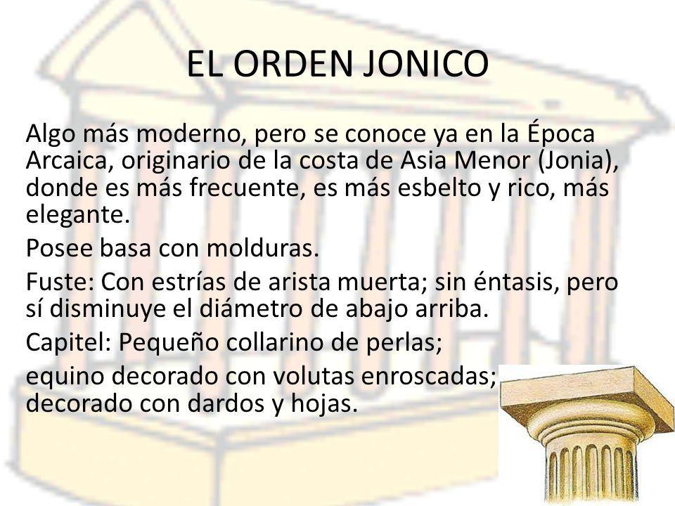 EL ORDEN JONICO