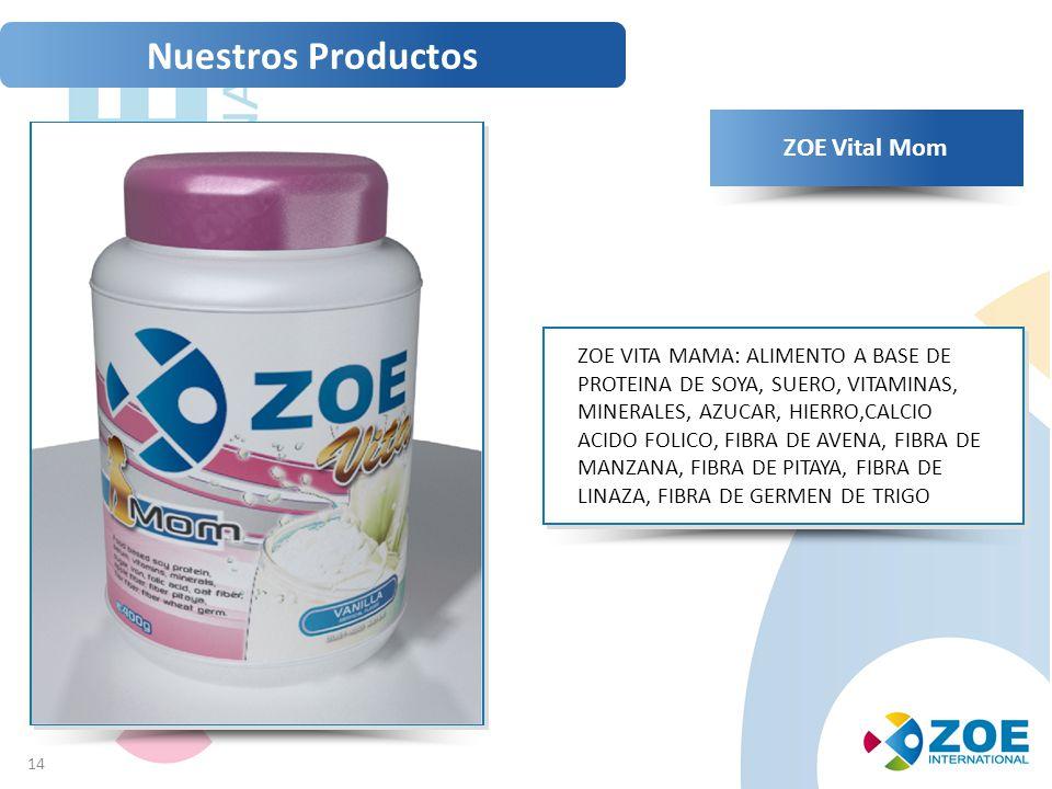 Nuestros Productos ZOE Vital Mom