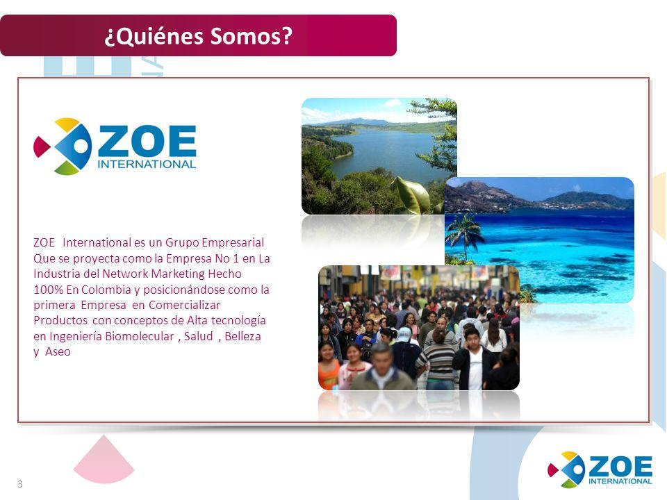 ¿Quiénes Somos ZOE International es un Grupo Empresarial