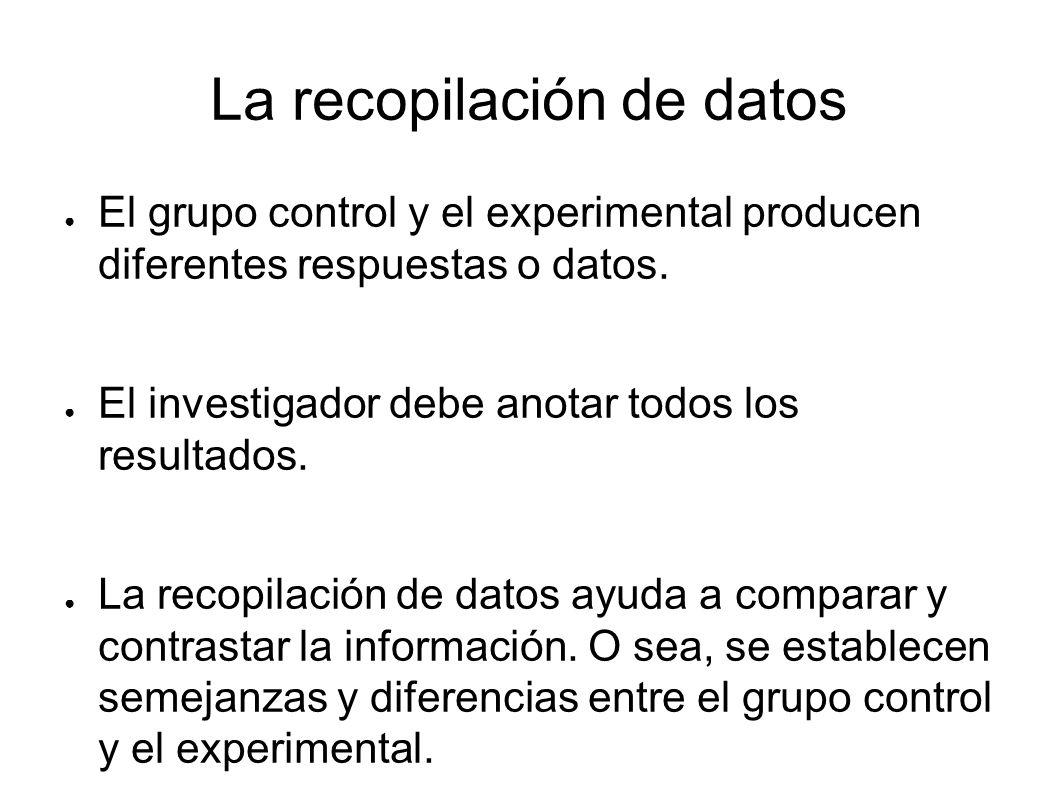 La recopilación de datos