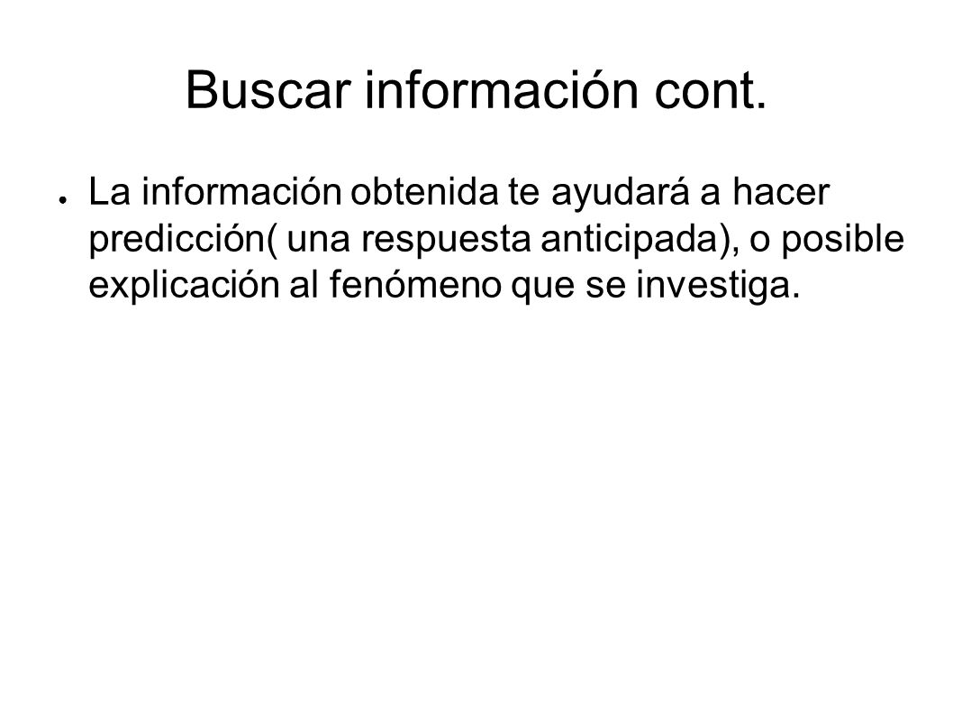 Buscar información cont.
