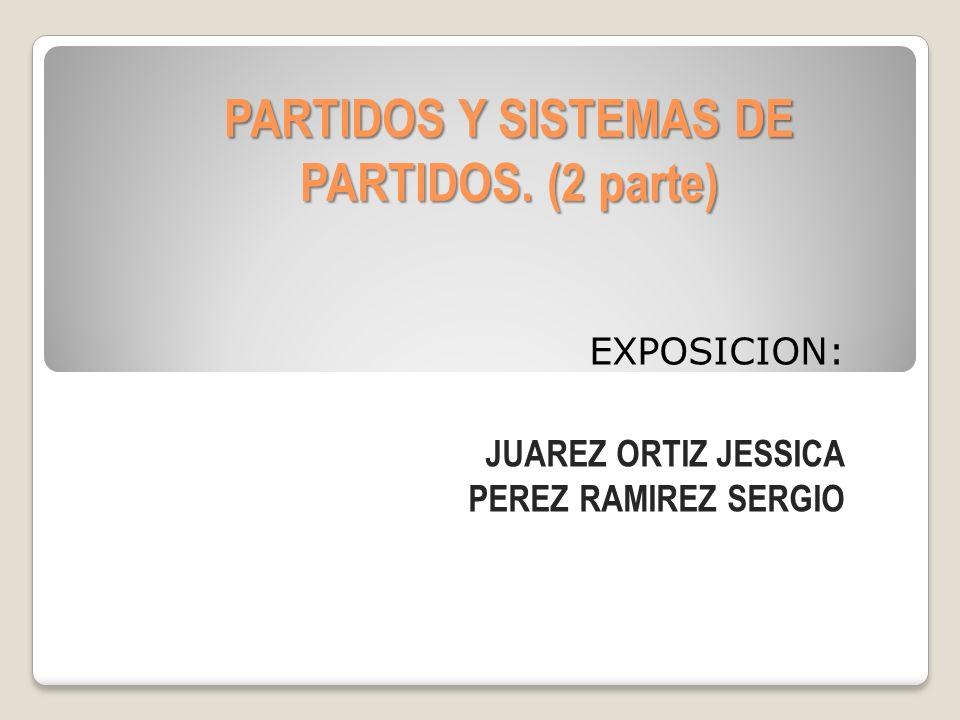 PARTIDOS Y SISTEMAS DE PARTIDOS. (2 parte)
