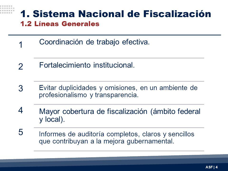 1. Sistema Nacional de Fiscalización 1.2 Líneas Generales