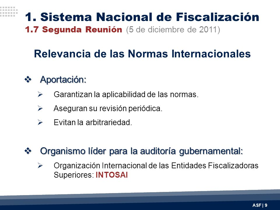 Relevancia de las Normas Internacionales