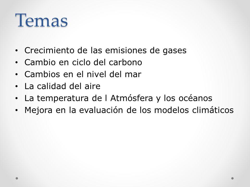 Temas Crecimiento de las emisiones de gases