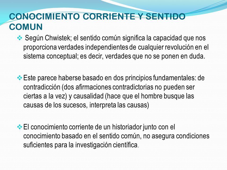 CONOCIMIENTO CORRIENTE Y SENTIDO COMUN