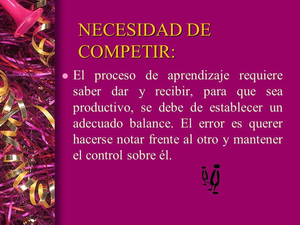 NECESIDAD DE COMPETIR: