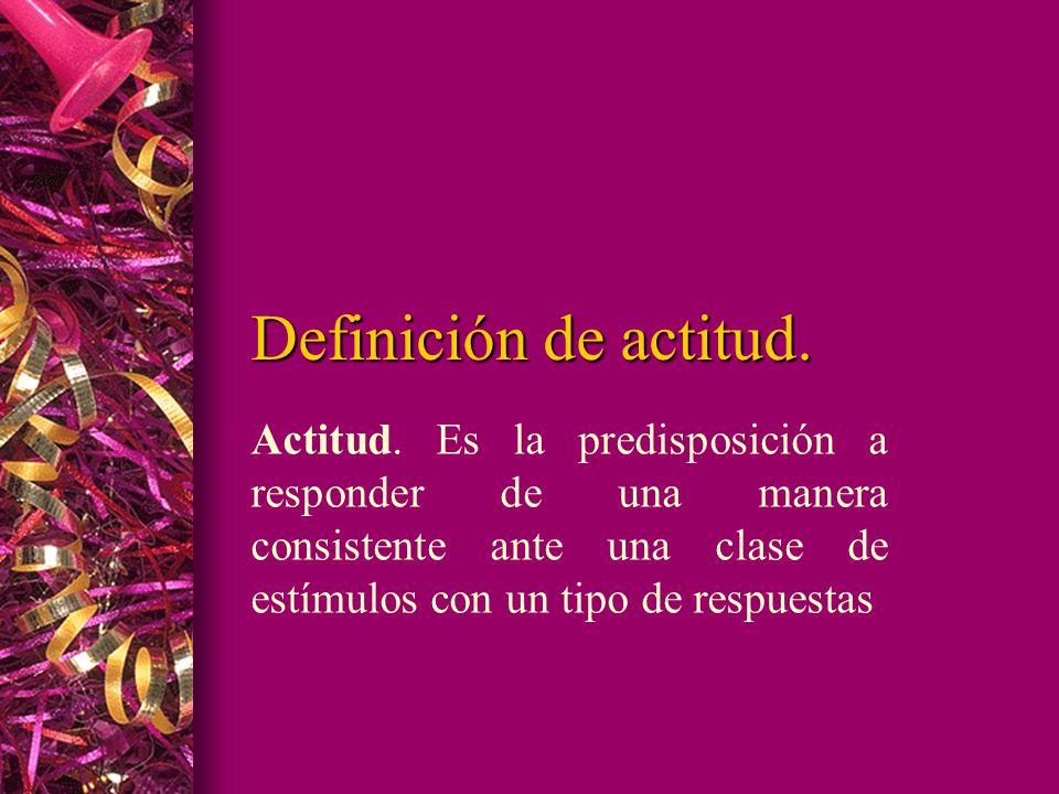 Definición de actitud. Actitud.