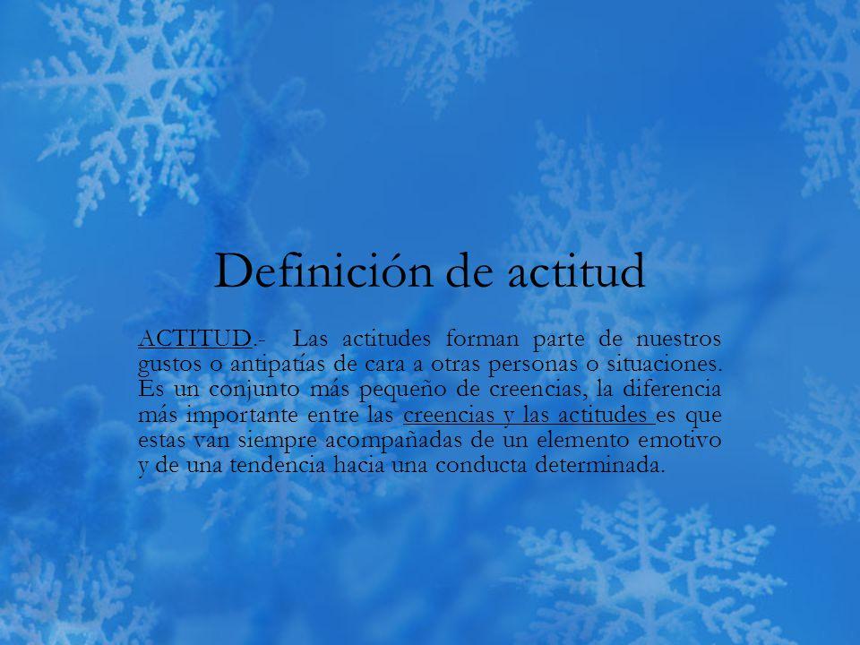 Definición de actitud