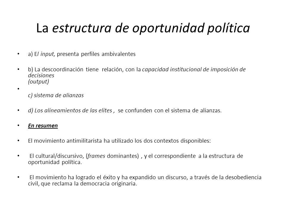 La estructura de oportunidad política