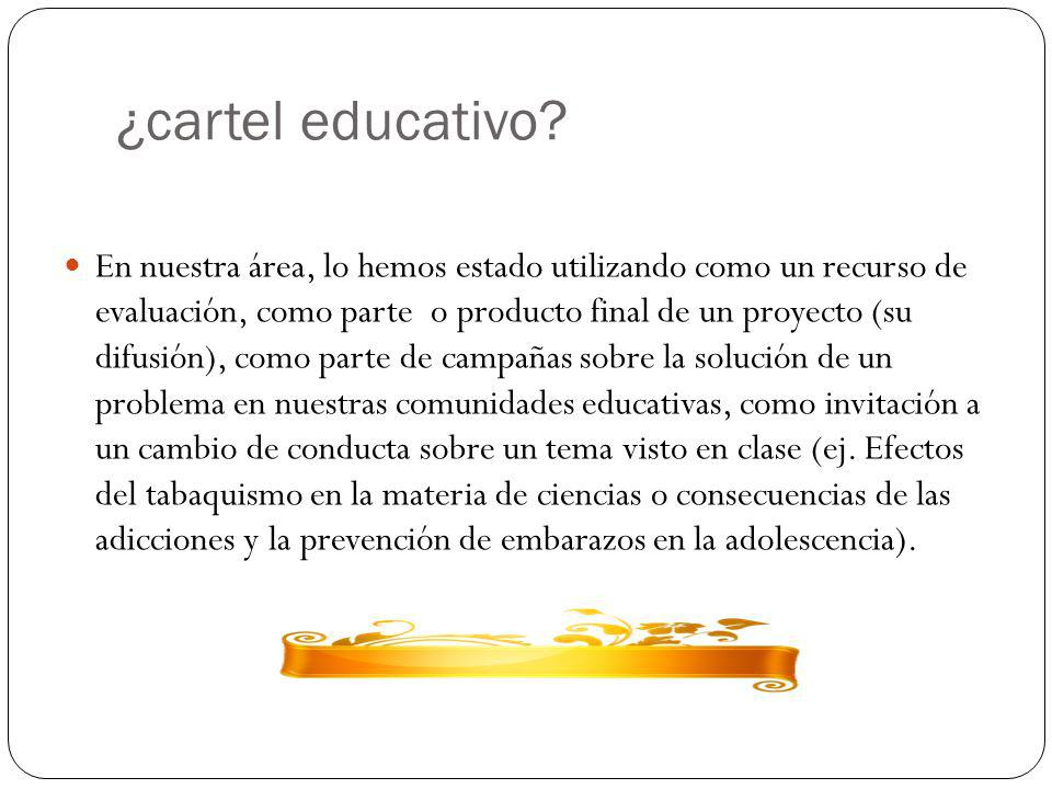 ¿cartel educativo