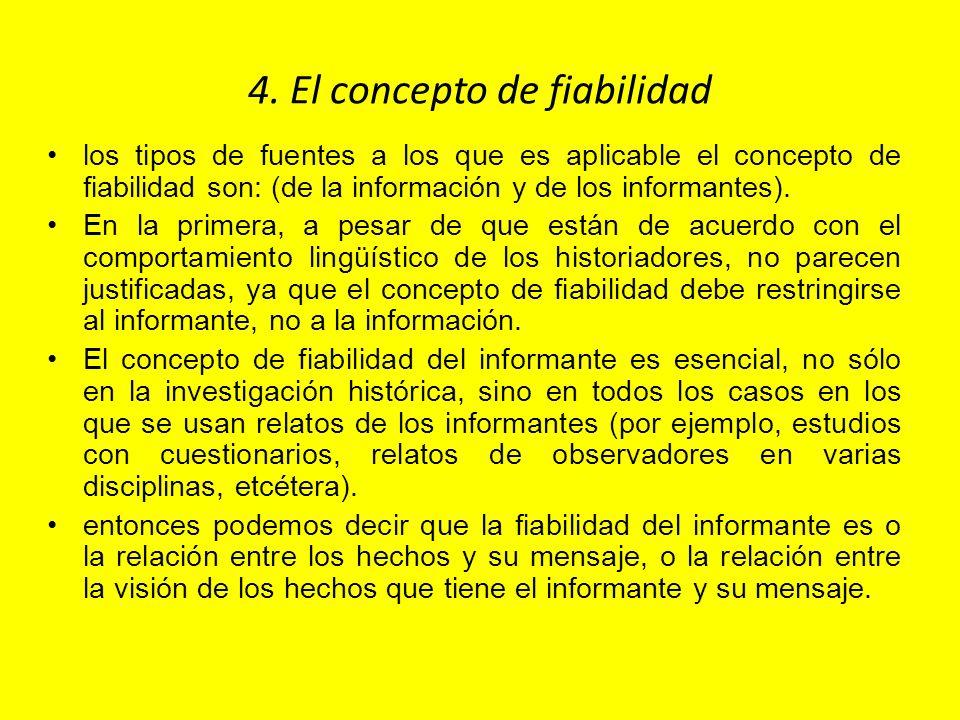 4. El concepto de fiabilidad