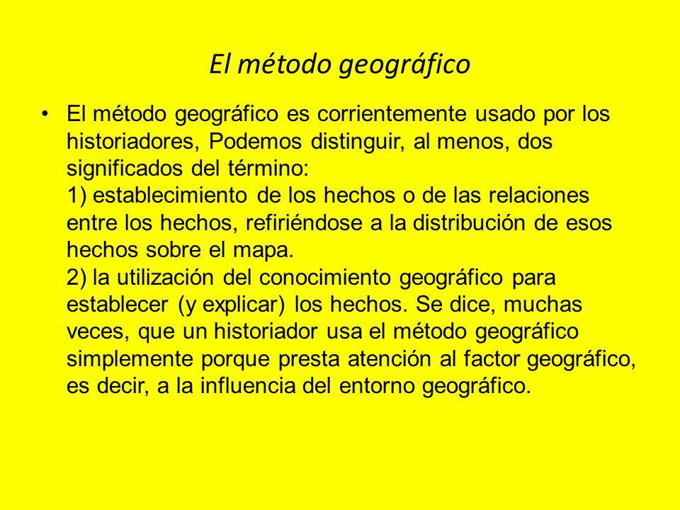 El método geográfico
