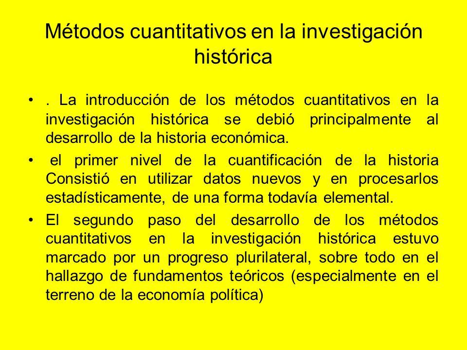 Métodos cuantitativos en la investigación histórica