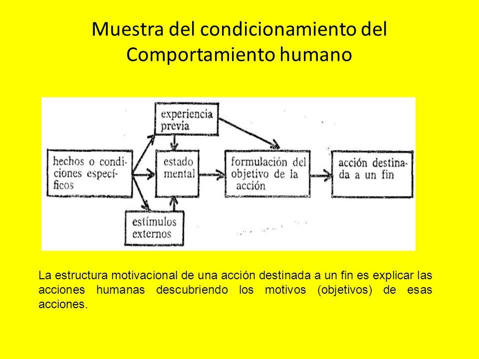 Muestra del condicionamiento del Comportamiento humano