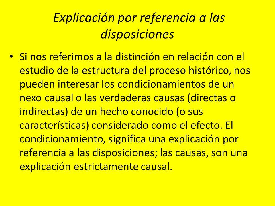 Explicación por referencia a las disposiciones