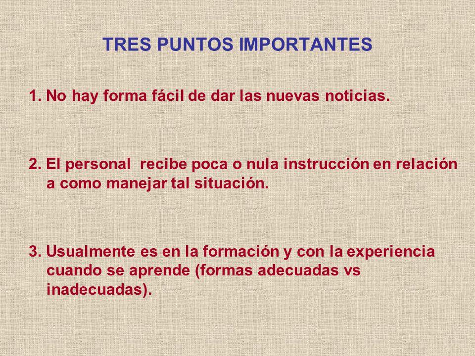 TRES PUNTOS IMPORTANTES