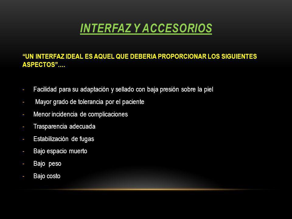 Interfaz y accesorios UN INTERFAZ IDEAL ES AQUEL QUE DEBERIA PROPORCIONAR LOS SIGUIENTES ASPECTOS ….