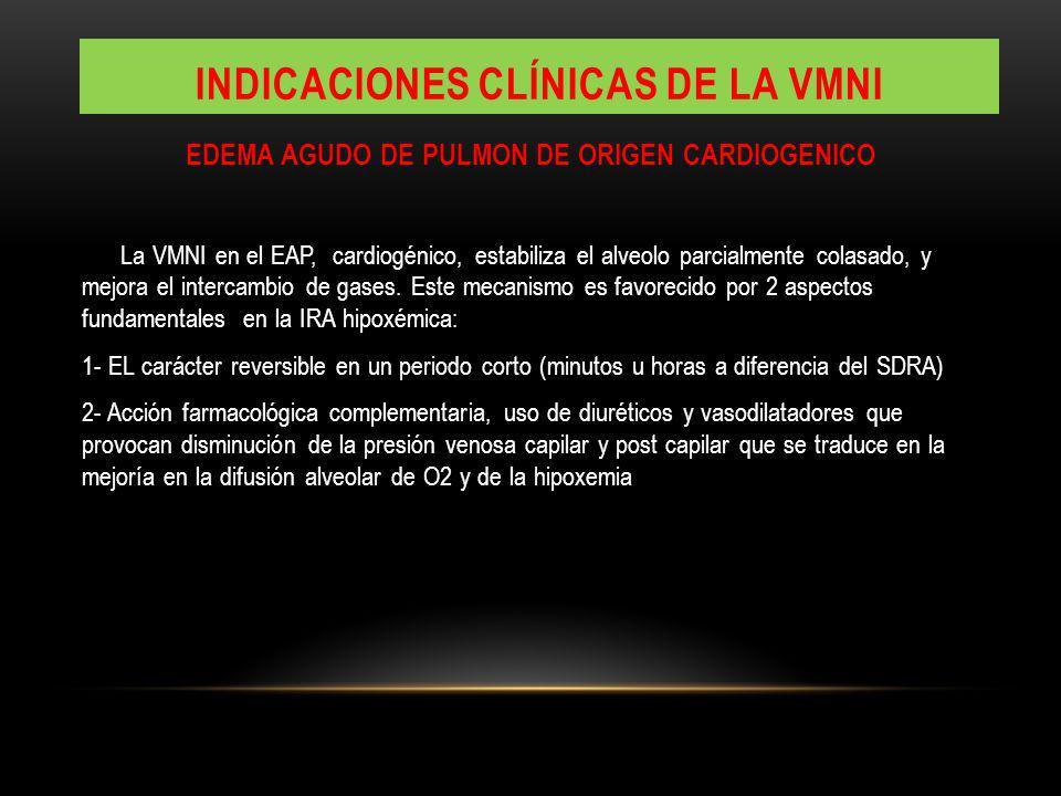 Indicaciones clínicas de la vmni