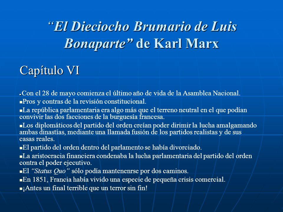El Dieciocho Brumario de Luis Bonaparte de Karl Marx