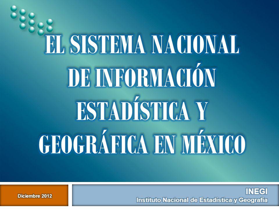 El Sistema nacional de información estadística y geográfica en México