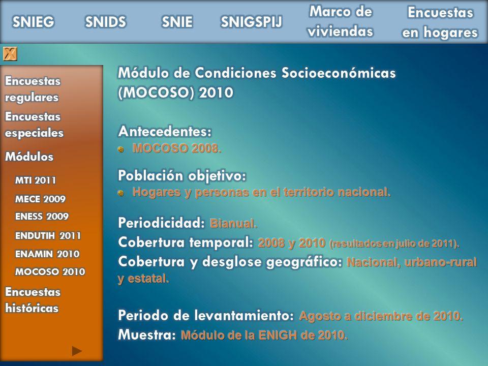Módulo de Condiciones Socioeconómicas (MOCOSO) 2010