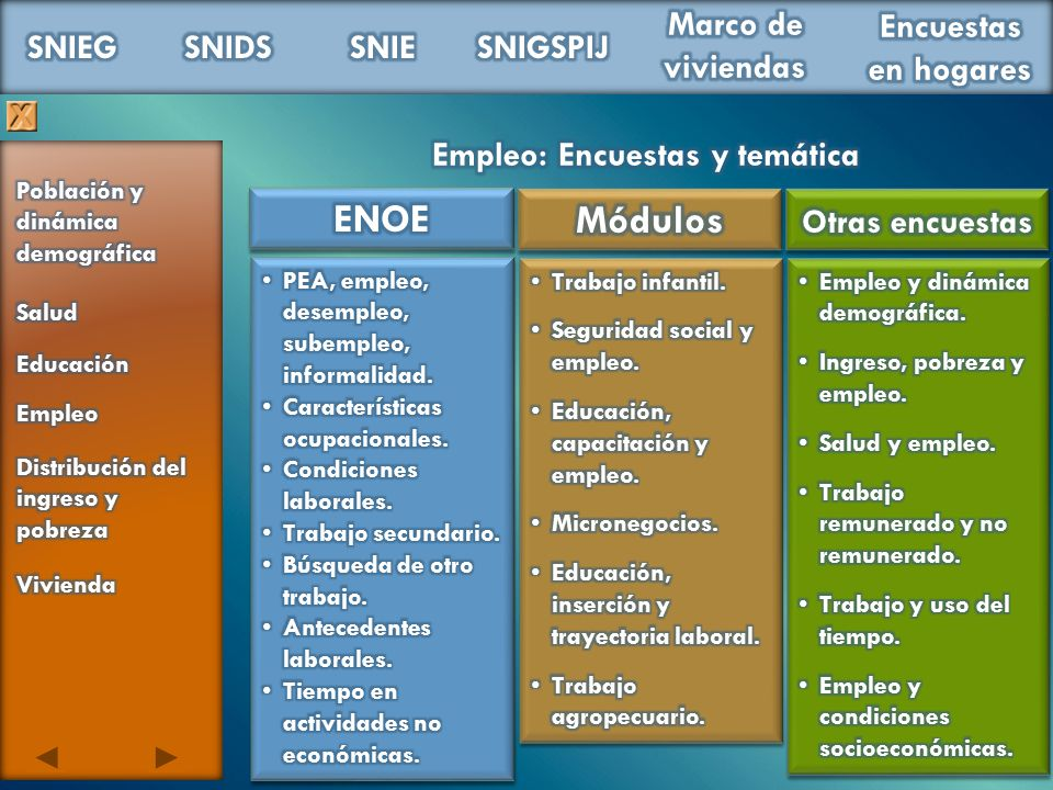 Empleo: Encuestas y temática