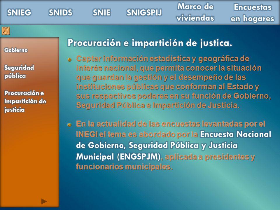 Procuración e impartición de justica.